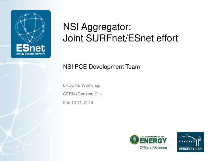 nsi aggregator joint surfnet esnet effort