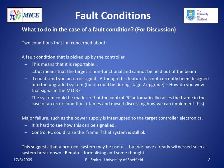Fault Conditions