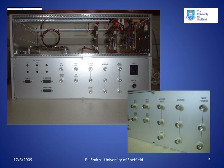 P J Smith - University of Sheffield