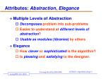 attributes abstraction elegance