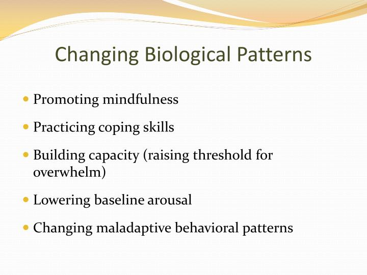 Changing Biological Patterns