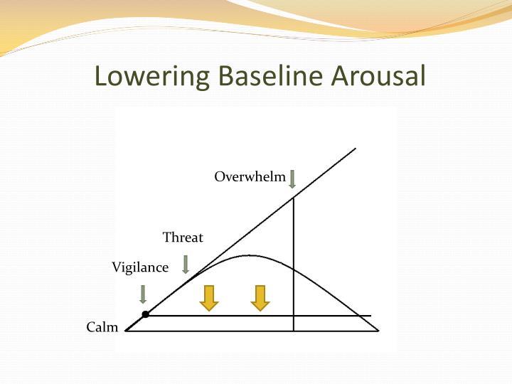 Lowering Baseline Arousal