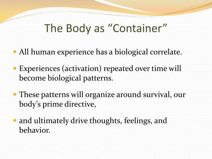 """The Body as """"Container"""""""