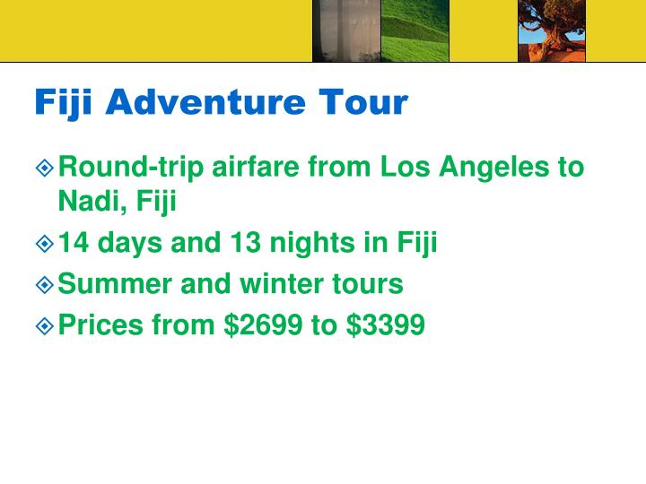 Fiji Adventure Tour