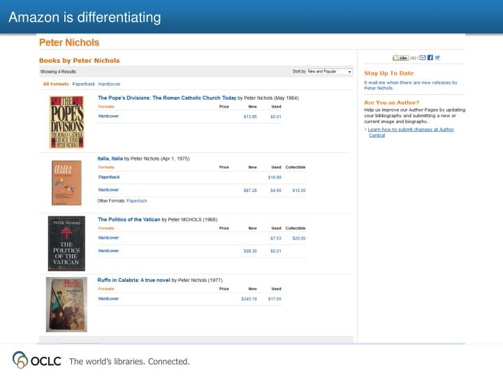 Amazon is differentiating