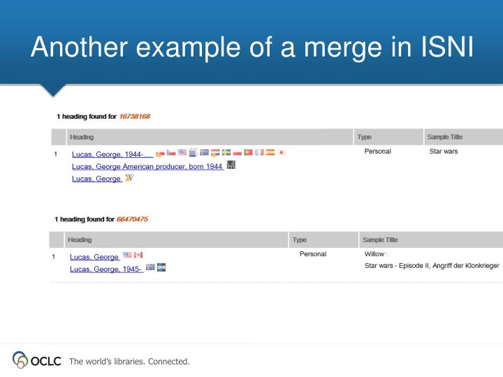 Another example of a merge in ISNI