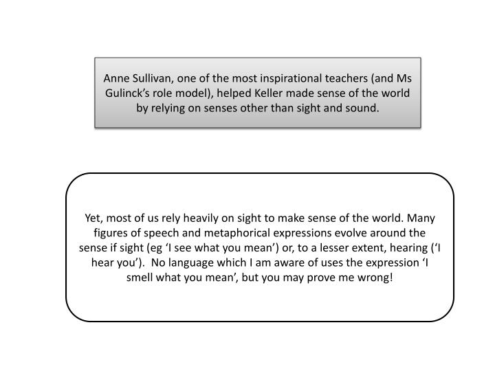 Anne Sullivan, one of the most inspirational teachers (and Ms