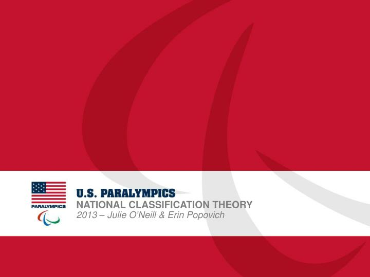 National classification theory