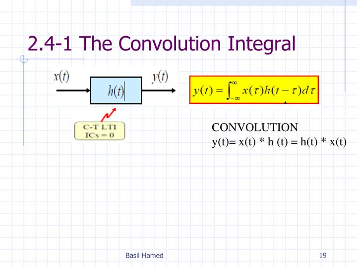 2.4-1 The Convolution Integral