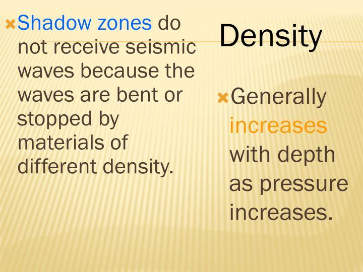 Shadow zones