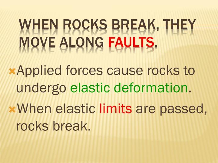 When rocks break, they move along