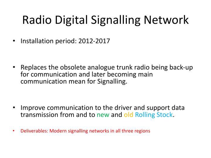 Radio Digital Signalling Network