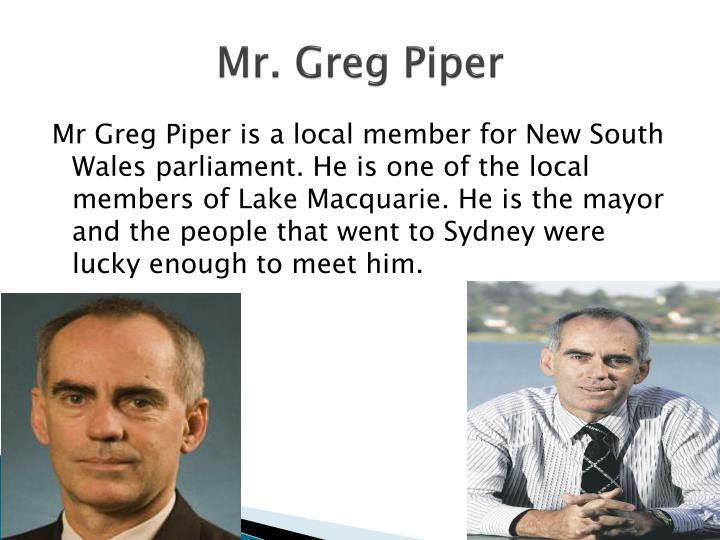 Mr. Greg Piper