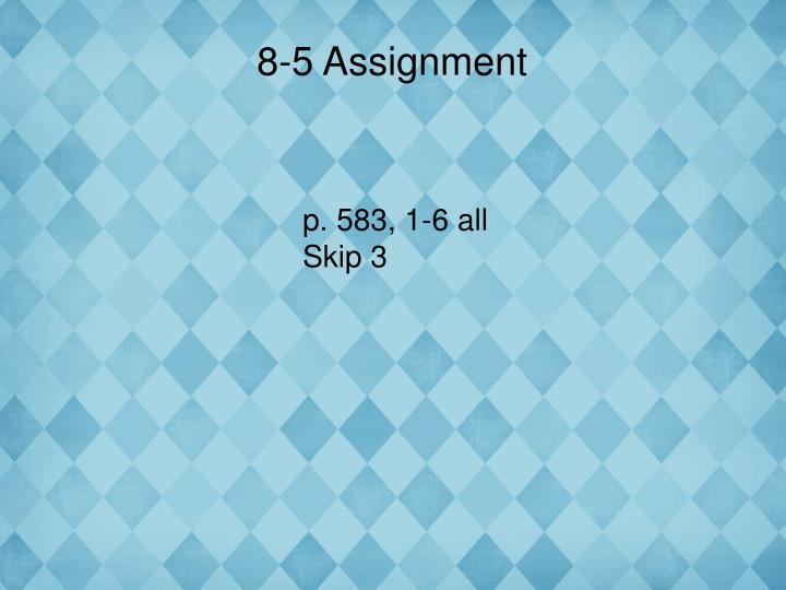 8-5 Assignment