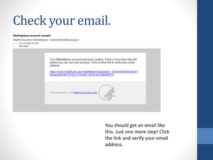 Check your email.