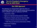 the u s president s emergency plan for aids relief