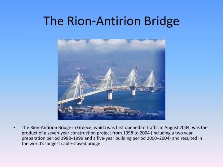 The Rion-Antirion Bridge
