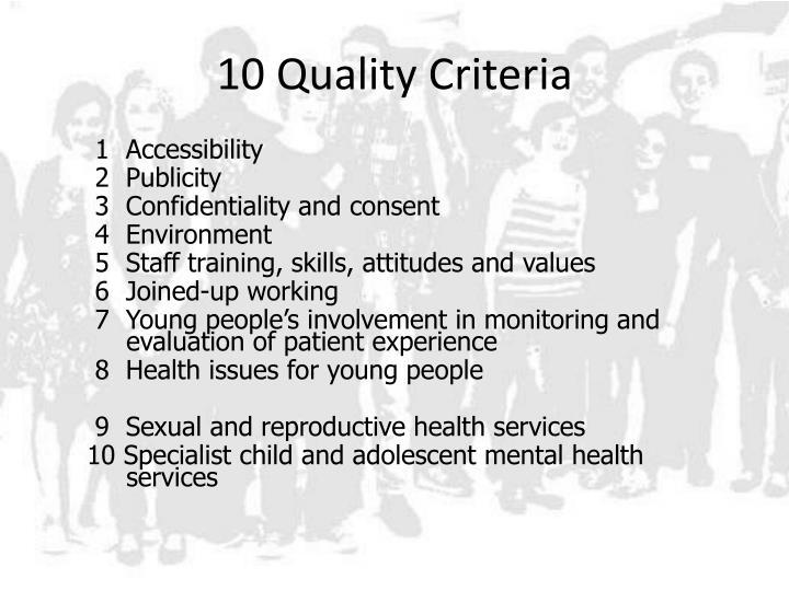10 Quality Criteria