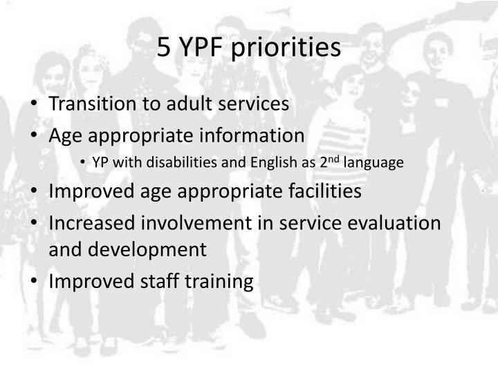 5 YPF priorities