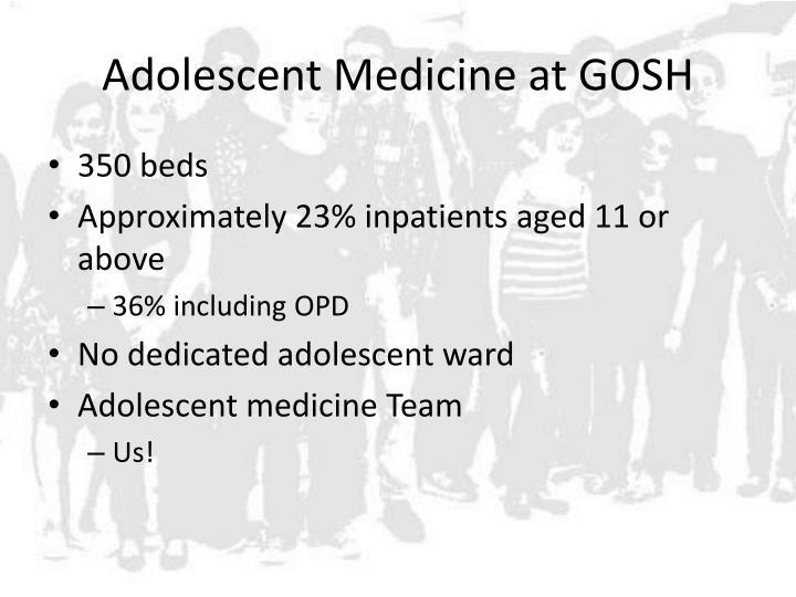 Adolescent Medicine at GOSH