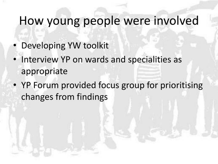 How young people were involved