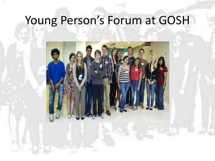 Young Person's Forum at GOSH