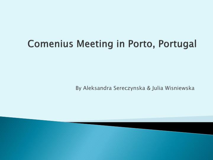 Comenius meeting in porto portugal