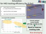 simulation for hks tracking efficiency by d doi