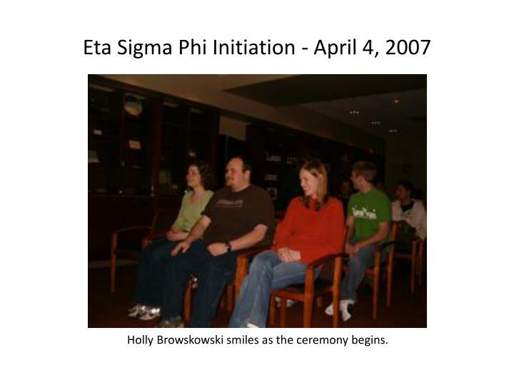 Eta Sigma Phi Initiation - April