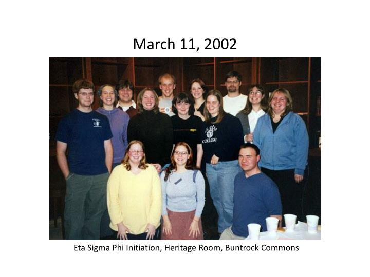 March 11, 2002