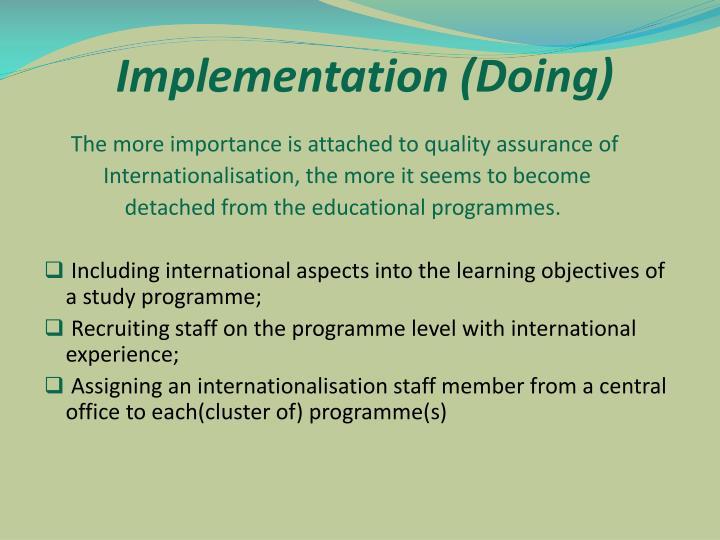 Implementation (Doing)