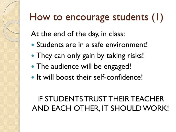 How to encourage students (1)
