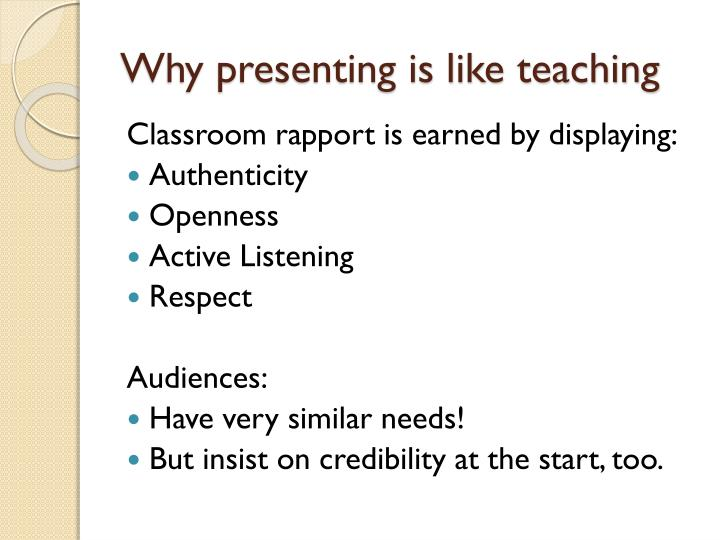 Why presenting is like teaching