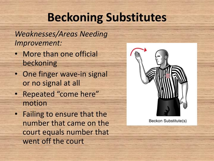 Beckoning Substitutes