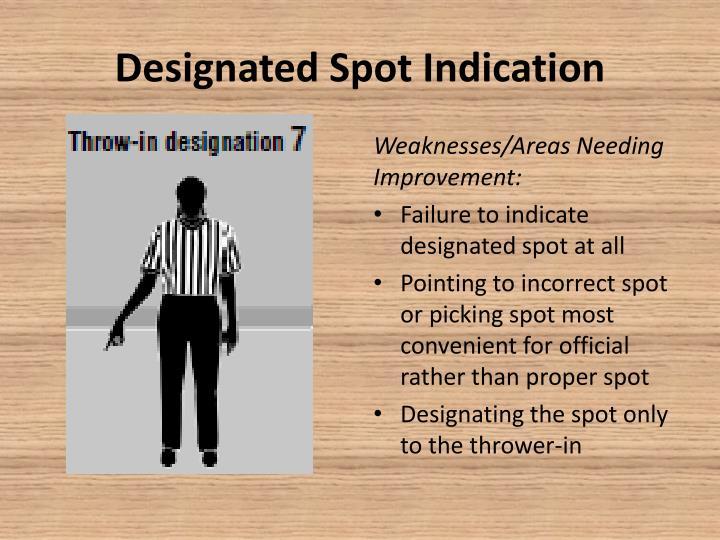 Designated Spot Indication