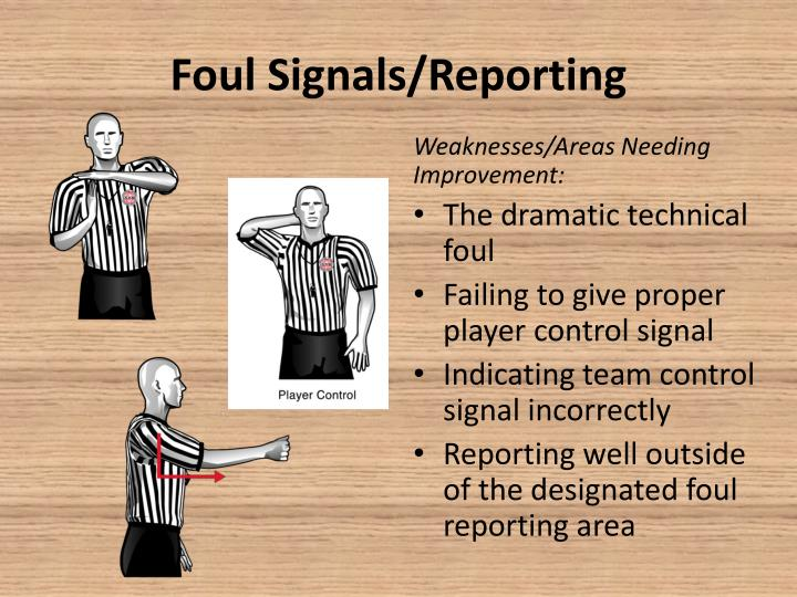 Foul Signals/Reporting
