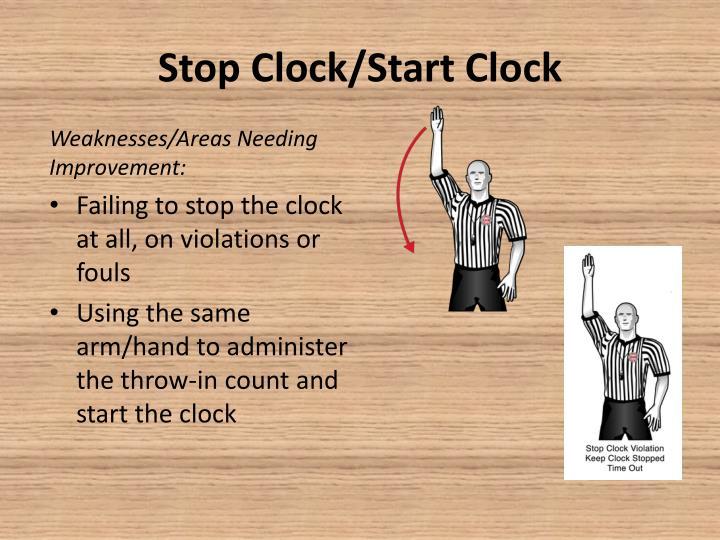 Stop Clock/Start Clock