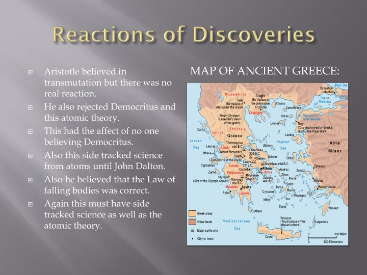Reactions of Discoveries