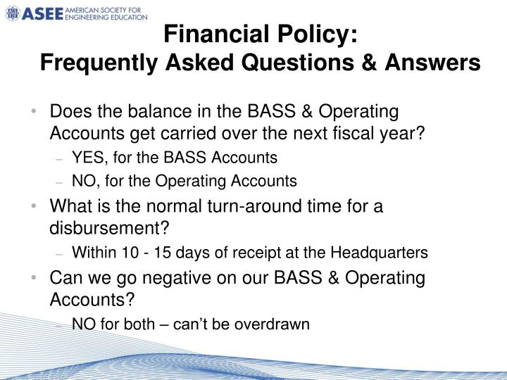 Financial Policy: