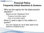 financial policy frequently asked questions answers2