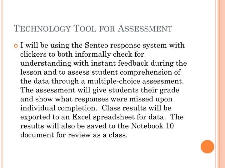 Technology Tool for Assessment
