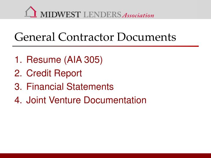 General Contractor Documents