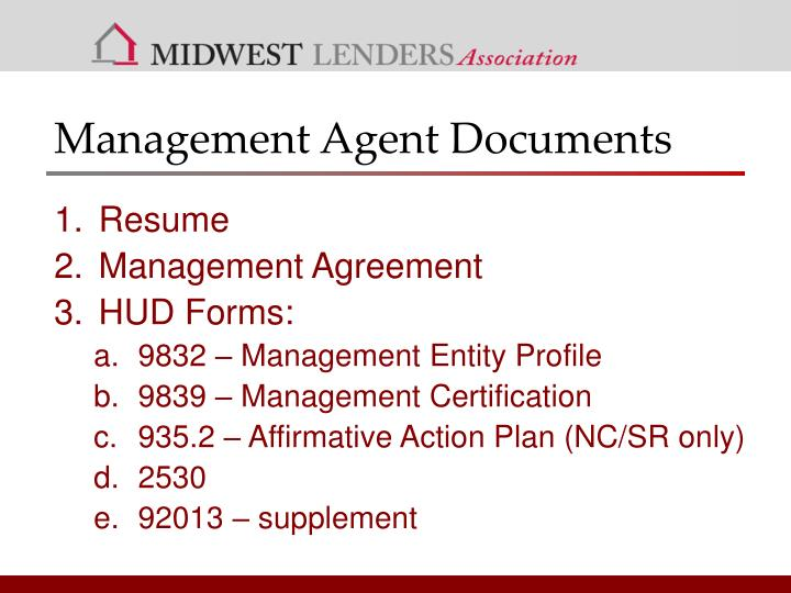 Management Agent Documents