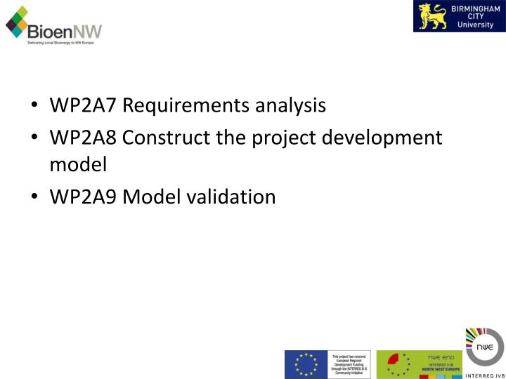 WP2A7 Requirements analysis