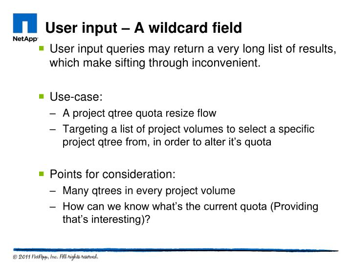 User input queries may return a very long list of results, which make sifting through inconvenient.