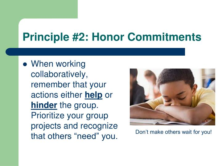 Principle #2: Honor Commitments