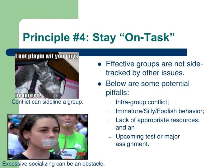 "Principle #4: Stay ""On-Task"""