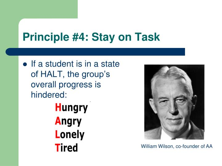 Principle #4: Stay on Task