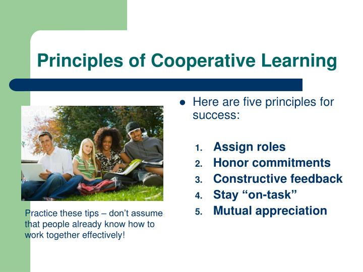 Principles of cooperative learning1