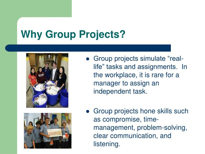 Why Group Projects?